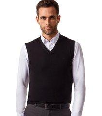 sweater sin mangas negro new man