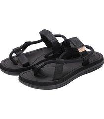 verano nuevo estilo sandalias masculinas-negro