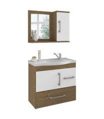 conjunto de banheiro fortaleza carvalho e branco