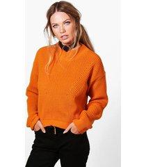 open knit turtle neck sweater
