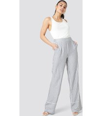 trendyol yol stripe wide pants - multicolor
