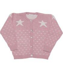 chaleco estrellas rosa maría pompón