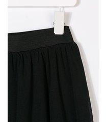 andorine tulle midi skirt - black