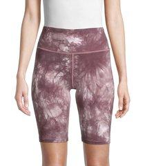 calvin klein women's oslo tie-dye bike shorts - stardust - size m