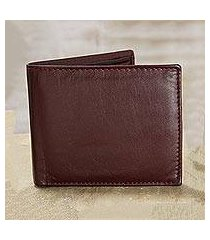 leather wallet, 'bold burgundy' (india)