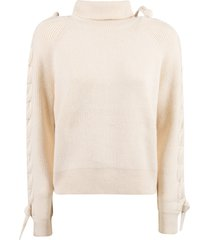 j.w. anderson cable insert turtleneck sweater