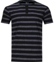 camiseta descanso a rayas color negro, talla s