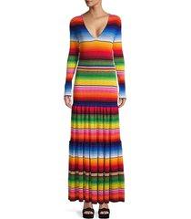 carolina herrera women's drop-waist ribbed maxi dress - size m
