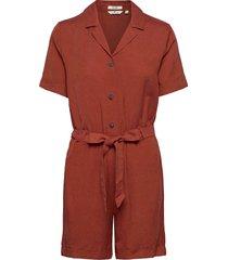 overall util jumpsuit orange tom tailor