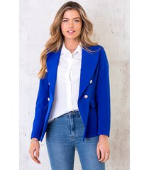 button blazer kobalt