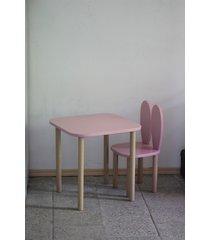 zestaw krzesełko + stolik dusty pink