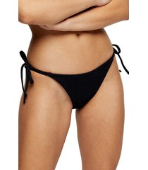 women's topshop crinkle high tie bikini bottoms