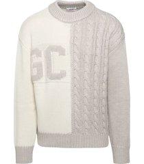 gcds beige wool sweater