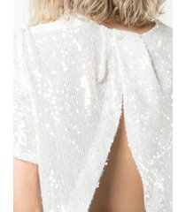 adam lippes embroidered shift blouse - white