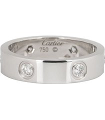 cartier pre-owned 18kt white gold love diamond wedding band
