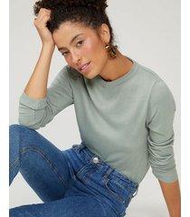 amaro feminino suéter tricot básico, verde claro