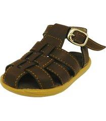 sandalia marrón dulce noelia summer