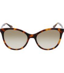longchamp le pliage 54mm cat eye sunglasses in havana/havana at nordstrom