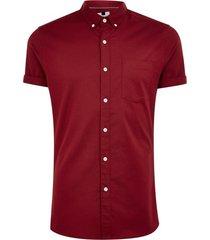 mens red burgundy stretch skinny oxford shirt
