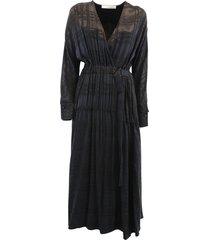 cupro and viscose blend dress