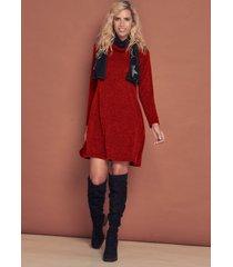 vestido rojo city lany