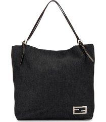 fendi pre-owned ff buckle tote bag - blue