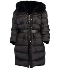 black fur collar puffer coat