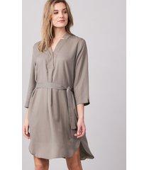 rechte jurk met riem