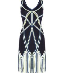 charoletta basket weave fringe jacquard dress