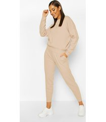 knitted sweater & jogger co-ord, blush