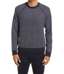 vince bird's eye wool & cashmere pullover, size xx-large in coastal/pearl at nordstrom