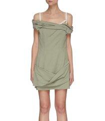 la robe foglio' off-shoulder mini dress