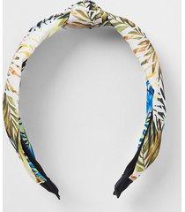 river island womens green leaf print knot headband