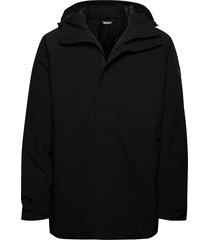 olden primaloft long jacket parka jas zwart skogstad