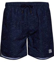 swim shorts japanese waves badshorts blå dedicated