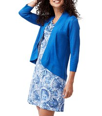 open front knitted linen cardigan
