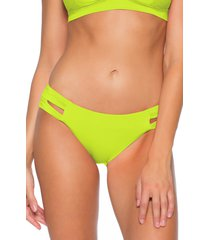 women's soluna clear skies full moon cutout bikini bottoms, size x-large - green