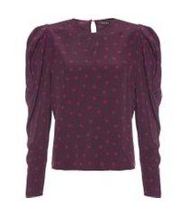 blusa feminina maricy mini - roxo
