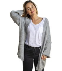 chaleco cardigan abierto gris froens