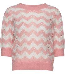 mohair short sleeved jumper gebreide trui roze by ti mo