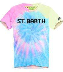 mc2 saint barth saint barth tie dye fluo man t-shirt