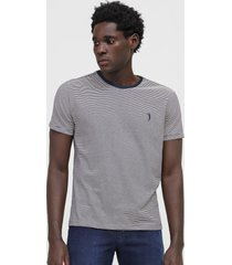 camiseta aleatory listrada branca/azul-marinho - branco - masculino - algodã£o - dafiti