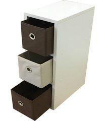 gaveteiro  organibox colorido marrom - tricae