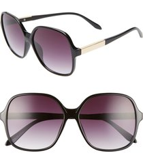 women's bp. 59mm metal detail square sunglasses - black