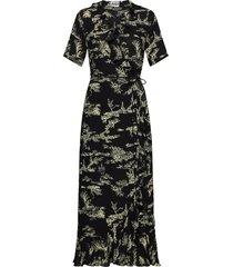 mako maxi wrap dress maxiklänning festklänning svart just female