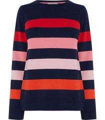 kleurrijk gestreepte trui