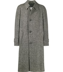 a.n.g.e.l.o. vintage cult 1990's tweed overcoat - grey
