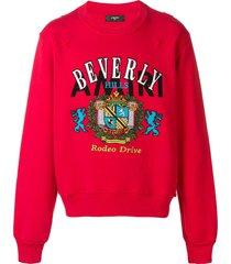 amiri beverly hills crew neck sweatshirt - red