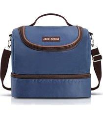 bolsa térmica com 2 compartimentos jacki design essencial iii azul .