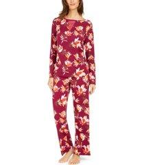 sesoire women's floral-print woven pajama set